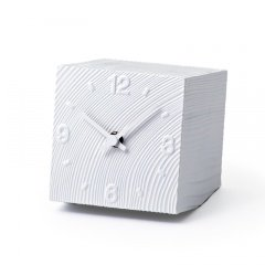 【Lemnos】DESIGN OBJECTS 置き時計 cube(ホワイト)・AZ10-17WH