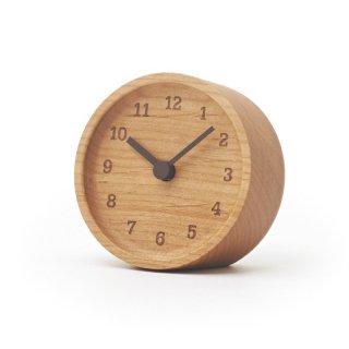 【Lemnos】CASA 置き時計 MUKU desk clock(アルダー)・LC12-05AD