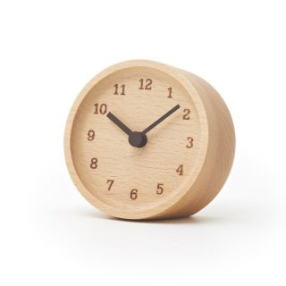 【Lemnos】CASA 置き時計 MUKU desk clock(ブナ)・LC12-05BN