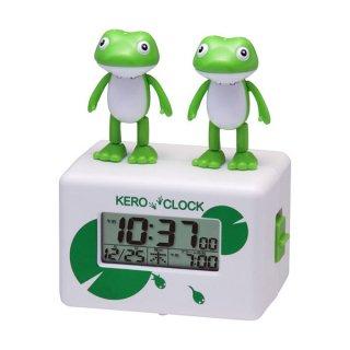 【CHARACTERCLOCK】置き時計 キャラクタークロック ケロクロックシリーズ ケロクロック2(白)・8RDA46RH03