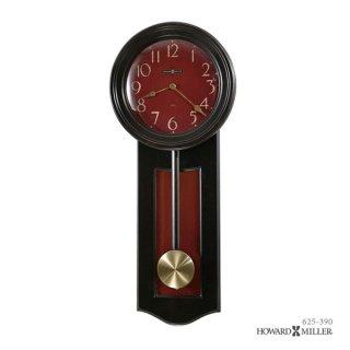【HOWARD MILLER】掛け時計 ALEXI (黒・アンティーク赤仕上げ)・625-390