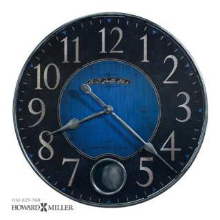 【HOWARD MILLER】掛け時計 HARMON II (アンティーク・コバルトブルー仕上げ)・625-568