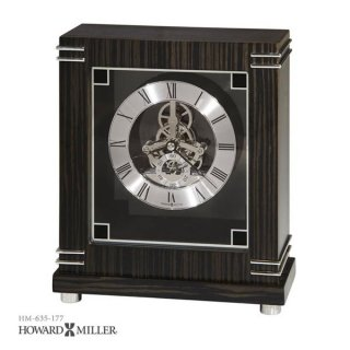 【HOWARD MILLER】置時計 テーブルトップクロック BATAVIA (黒檀仕上げ)・635-177