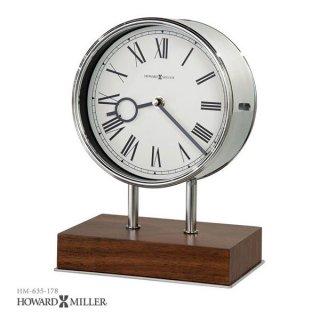 【HOWARD MILLER】置時計 テーブルトップクロック ZOLTAN (クローム製)・635-178