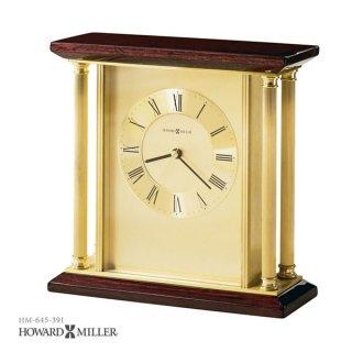 【HOWARD MILLER】置時計 テーブルトップクロック CARLTON (真鍮製)・645-391