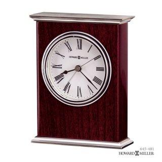 【HOWARD MILLER】置時計 目覚まし時計 KENTWOOD (ローズカラー紫檀仕上げ)・645-481