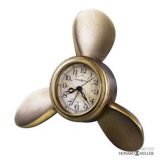 【HOWARD MILLER】置時計 目覚まし時計 PROPELLER ALARM (アンティーク真鍮仕上げ)・645-525