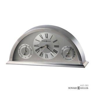【HOWARD MILLER】置時計 テーブルトップクロック WEATHERTON (メタルシルバー)・645-583