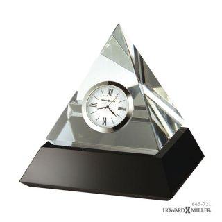 【HOWARD MILLER】置時計 テーブルトップクロック SUMMIT (クリスタル製ピラミッド)・645-721