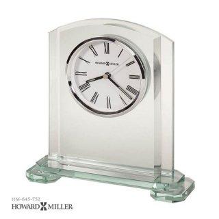 【HOWARD MILLER】置時計 テーブルトップクロック STRATUS (2重ガラス製)・645-752