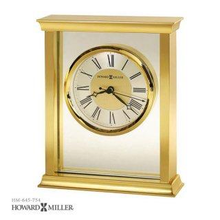 【HOWARD MILLER】置時計 テーブルトップクロック MONTICELLO (真鍮仕上げ)・645-754