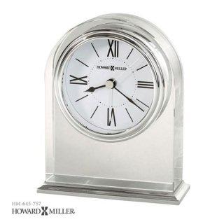【HOWARD MILLER】置時計 目覚まし時計 OPTICA (アルミニウム仕上げ)・645-757
