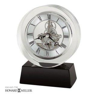 【HOWARD MILLER】置時計 テーブルトップクロック FUSION (クリスタル製)・645-758
