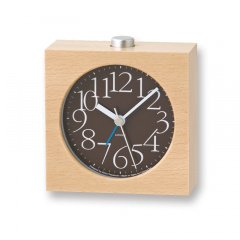 【Lemnos】CASA 目覚まし時計 AY alarm clock(ブラウン)・LA10-07BW