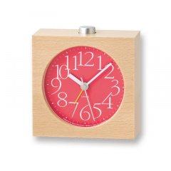 【Lemnos】CASA 目覚まし時計 AY alarm clock(レッド)・LA10-07RE