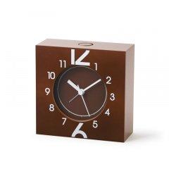 ※在庫のみ【Lemnos】CASA 目覚まし時計 12+6(ブラウン)・MS11-11BW