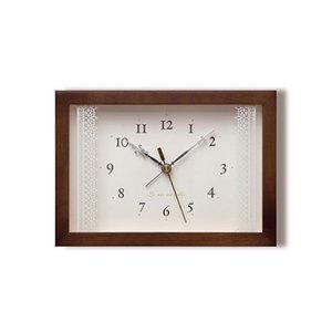 【Lemnos】Plain 目覚まし時計 Lacet(ブラウン)・PA06-21BW