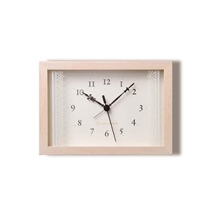 【Lemnos】Plain 目覚まし時計 Lacet(ホワイト)・PA06-21WH