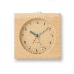 【Lemnos】CASA 目覚まし時計 Block(ナチュラル)・PA08-30NT
