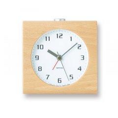 【Lemnos】CASA 目覚まし時計 Block(ホワイト)・PA08-30WH