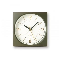 【Lemnos】KID'S+MODERN 目覚まし時計 EPICE(カーキ)・PA09-09KHA