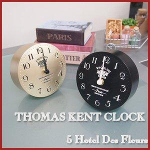 【THOMAS KENT CLOCKS】置き時計 5 Hotel Des Fleurs(ブラック)・KC50