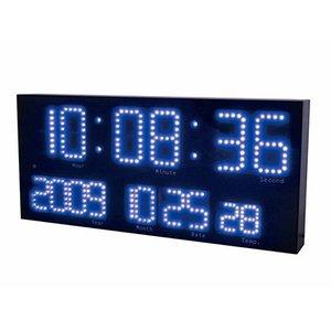 【誠時】掛け時計電波LEDクロックLEDAccurat(LEDアクラート)(ブルー)・LED-101BU