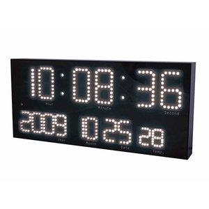 【誠時】掛け時計電波LEDクロックLEDAccurat(LEDアクラート)(ホワイト)・LED-101WH