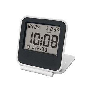 【誠時】目覚まし時計アラーム付トラベルクロックCoppet(コペ)(ホワイト)・LS-013WH