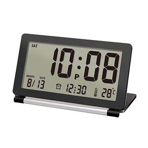 【誠時】目覚まし時計アラーム付トラベルクロックPiatto(ピアット)(ブラック)・LS-014BK