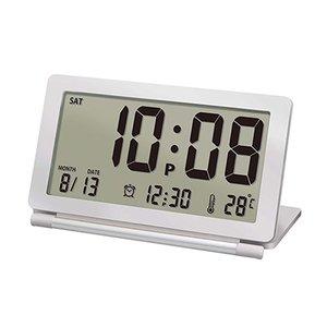 【誠時】目覚まし時計アラーム付トラベルクロックPiatto(ピアット)(ホワイト)・LS-014WH