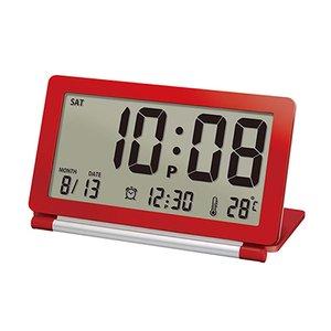 【誠時】目覚まし時計アラーム付トラベルクロックPiatto(ピアット)(レッド)・LS-014RE