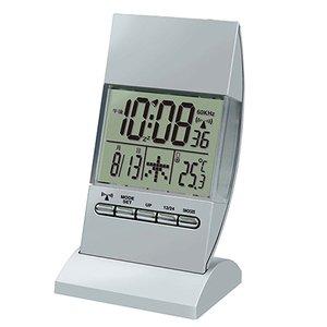 【誠時】目覚まし時計アラーム付電波デジタルクロックRCIlluminationClock(イルミネーションクロック)(シルバー)・RW-005SI