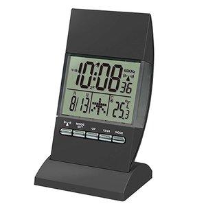【誠時】目覚まし時計アラーム付電波デジタルクロックRCIlluminationClock(イルミネーションクロック)(ブラック)・RW-005BK