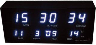 【HOUSE USE PRODUCTS】置き時計 LEDクロック ミニマルチ(ホワイト)・ACL-065