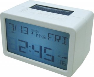【HOUSE USE PRODUCTS】置き時計 プラグインハイバードクロック フリスコ(ホワイト)・ACL-072