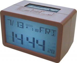 【HOUSE USE PRODUCTS】置き時計 プラグインハイバードクロック フリスコ(ブラウン)・ACL-074