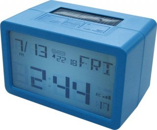 【HOUSE USE PRODUCTS】置き時計 プラグインハイバードクロック フリスコ(ブルー)・ACL-075