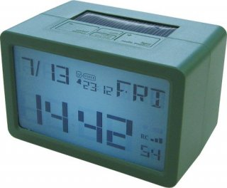 【HOUSE USE PRODUCTS】置き時計 プラグインハイバードクロック フリスコ(グリーン)・ACL-077