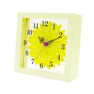 【スターライン】置き掛け両用時計時計アートフラワークロック(イエロー)・STW-1168YE
