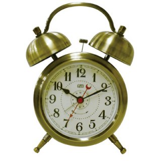 【Capito】置き時計 Double Bell Alarm Clock(ブラス)・CP-WB01-BR