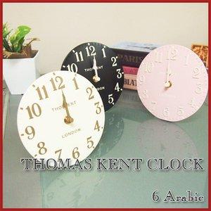 【THOMAS KENT】置き時計 Arabic(ブラック)・KC62