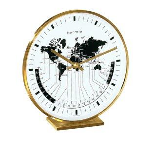 【Hermle】置き時計 Buffalo (ゴールド)・22704-002100