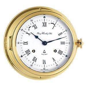 【Hermle】置き時計 Ships Clock(ゴールド)・35065-000132
