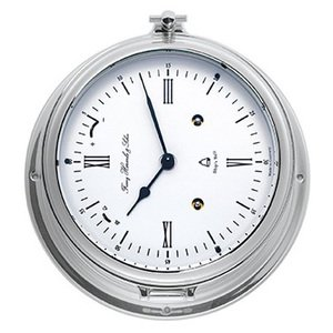 【Hermle】置き時計 Southampton(クローム色)・35066-000132
