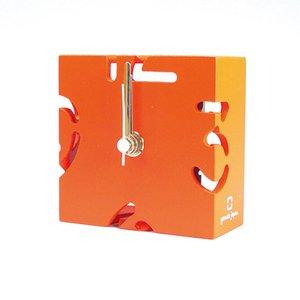 【ヤマト工芸】置き時計PUZZLEMINI(オレンジ色)・YK10-106Or