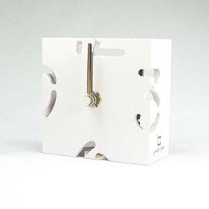 【ヤマト工芸】置き時計PUZZLEMINI(パープルホワイト)・YK10-106Pwh