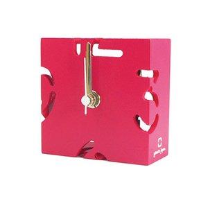 【ヤマト工芸】置き時計PUZZLEMINI(ピンク色)・YK10-106Pk