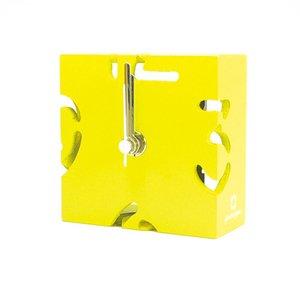 【ヤマト工芸】置き時計PUZZLEMINI(黄色)・YK10-106Ye