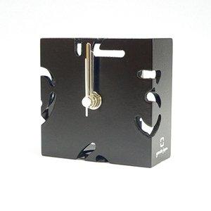【ヤマト工芸】置き時計PUZZLEMINI(黒色)・YK10-106Bk